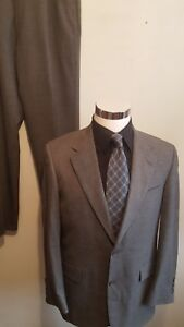 Austin Reed Two Piece Suit Size 39r Gray 2 Button 32x32 Pant Dillards Ebay