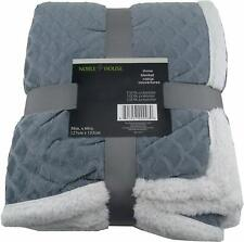 Noble House 50x60in Ultralush Throw Blanket Royal Blue NEW /& Super Warm