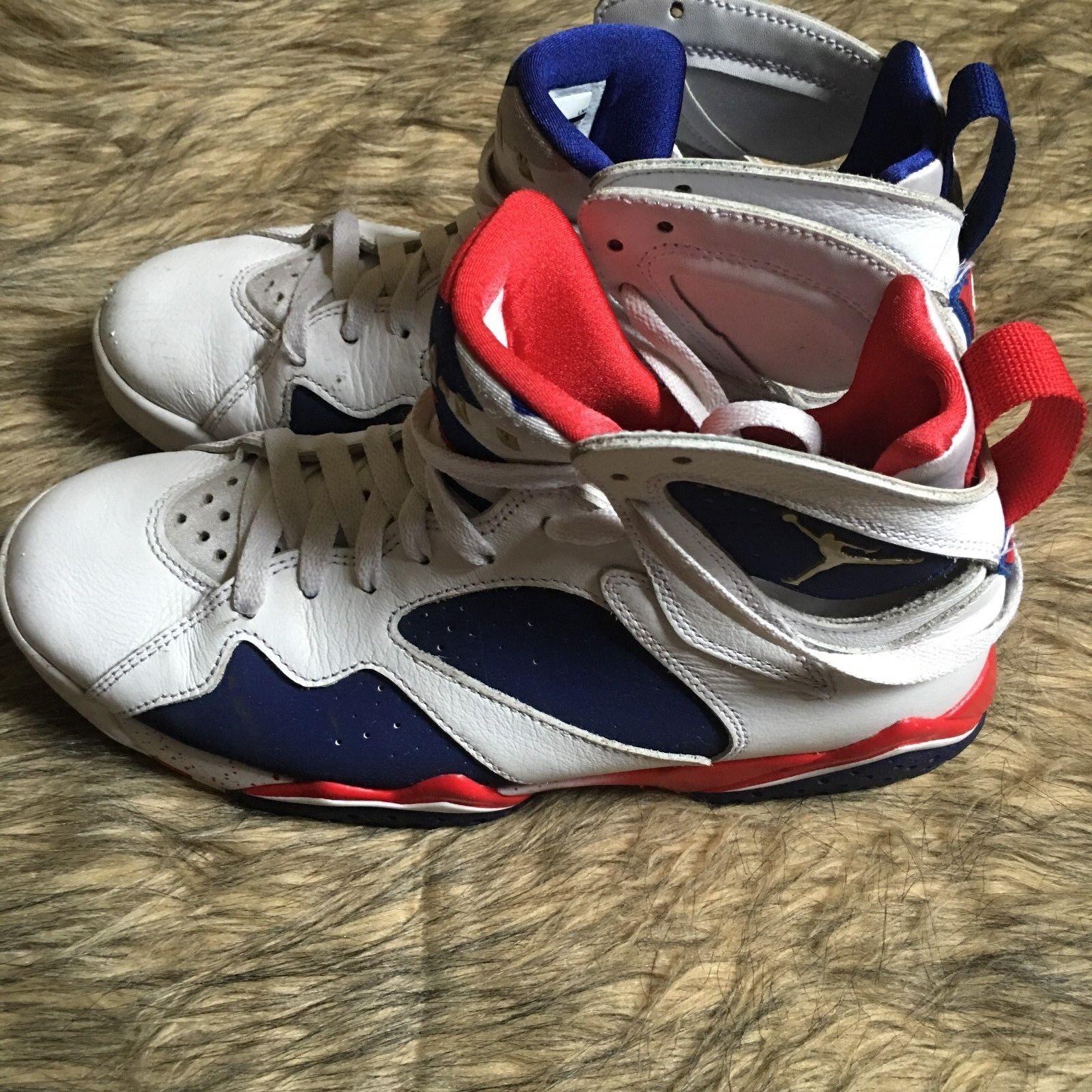 554d045f6ba8 Men s Nike Air Jordan 7 Retro Retro Retro USA Olympic Alternate Tinker  304775-123 Size
