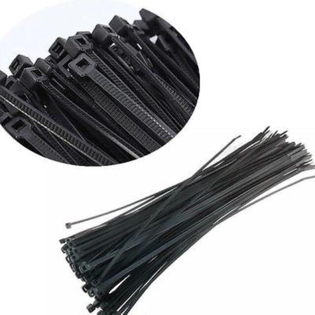 XE 100pcs Black 3x100mm Network Nylon Plastic Cable Wire Zip Tie Cord Strap CA