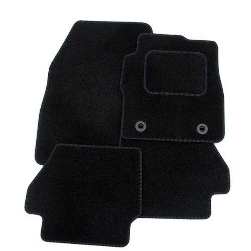 SEAT Leon 2008-2012 sur mesure tapis de voiture-Noir avec bordure noir