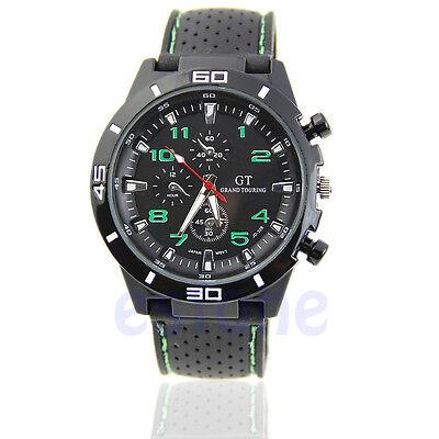 Luxury Black Stainless Steel Luxury Sport Analog Quartz Men's Wrist Watch