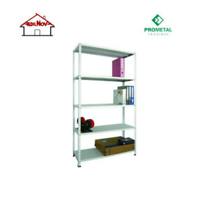 Kit Scaffale Metallo.Dettagli Su Scaffale Metallo Kit 5 Ripiani Scaffalatura Cm 100x40xh200 Grigio