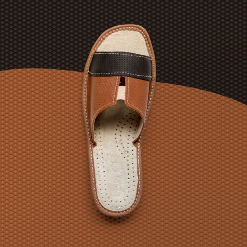 Womens Ladies Slippers Genuine Natural Leather Summer Slip Comfty ALL SIZES