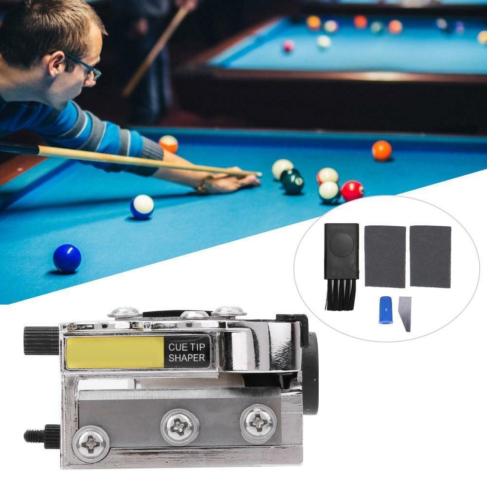 Snooker Pool Cue Tip Shaper Burnisher File Repair Tool Billiard Accessories L/&6