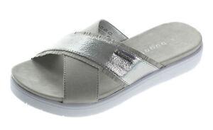 a1090623830586 Details zu Bugatti Damen Pantoletten Sandalen Slipper Damenschuhe 47190  Grau Silber 37-40