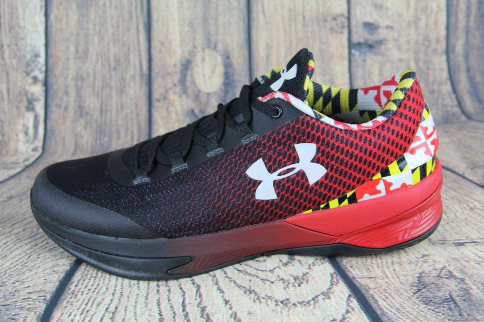 1be36633eed Under Armour Charged Controller Maryland Terrapins Shoes Black 1286379-600  Sz 9 for sale online