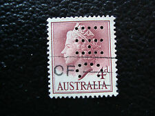 AUSTRALIE - 1 timbre oblitere (perfore) (A18) stamp australia