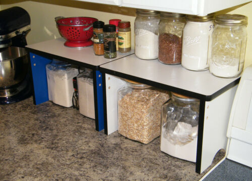 Kitchen  Shelves counter top />/>More counter space /</</<  Wood  Storage Canister