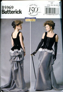 BUTTERICK-5969-Steampunk-Victorian-Edwardian-Corset-amp-Skirt-Sewing-Pattern