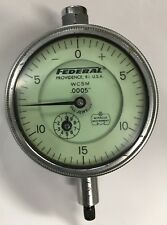 Federal Wc5m Dial Indicator With Lug Back 0 075 Range 0005 Graduation