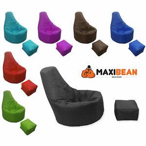 Large Bean Bag Chair Footstool Gamer Beanbag Adult Outdoor Gaming Garden Big Arm
