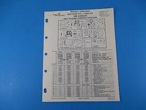 Details about Rochester Carburetor Model Triple 2-Barrel 2GC 1958 Cadillac  Parts/Rebuild M1003
