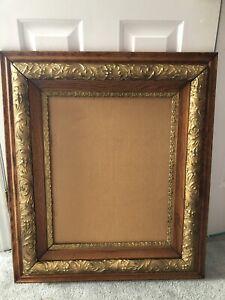 Antique-Estate-Oak-Gold-Gilt-Gesso-Picture-Frame-30-5-X-26-5-For-16-X-20-VGC