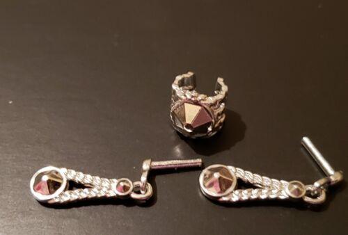 Barbie Doll Silver DIAMOND CUT Earrings /& bracelet jewelry