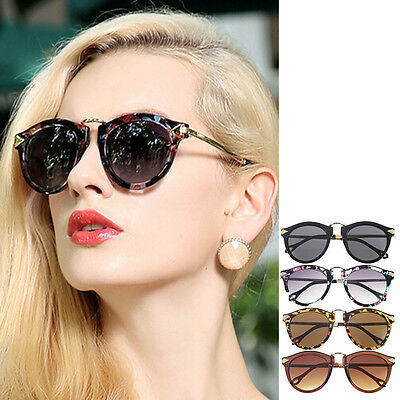 Women's Unisex Sunglasses Arrow Style Eyewear Round Sunglasses Metal Frame KK