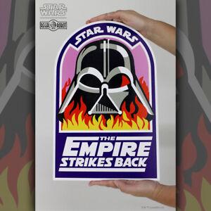 REGAL ROBOT Empire Strikes Back Darth Vader In Flames Wood Art Plaque NEW