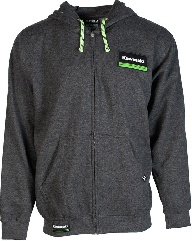 Factory Effex Kawasaki Lines Graphic Zip-Up Hoody  - Mens Sweatshirt