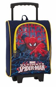 Trolley small scuola asilo bambino Marvel - Ultimate SPIDERMAN - con Pennarelli,