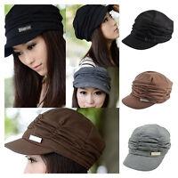 Damen Baskenmütze Barett Beret mütze Baggy Kopfbedeckung Beret Knit Beanie