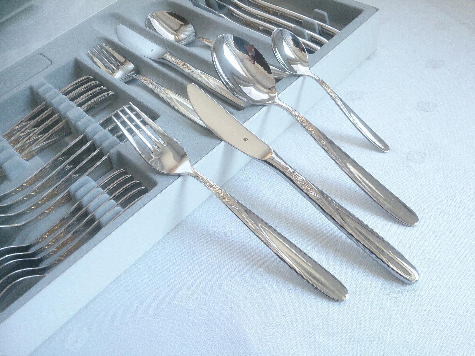WMF Bologne Cromargan Couverts 24 Pièces Couteau Fourchette Cuillère Café Cuillère NEUF