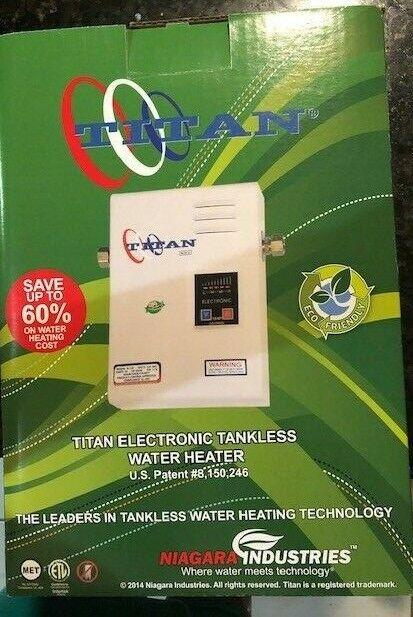 Titan® N-120 Electronic Digital Tankless Water Heater By Niagara Industries I...