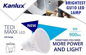 Kanlux Del Lumineux élevé Puissance 900 Lm 9 W Gu10 Ampoule Spotlight Downlight Lampe Ww-afficher Le Titre D'origine MatéRiaux Soigneusement SéLectionnéS