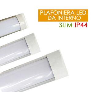 PLAFONIERA-LED-SLIM-30-60-120-150-CM-LUCE-SOFFITTO-LUCE-FREDDA-BLU-ROSSA-VERDE