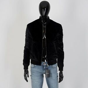 ca56910ceaa SAINT LAURENT 2990$ Slimfit Quilted MA-1 Bomber Jacket In Black Silk ...