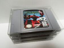 10 N64 CARTRIDGE PROTECTORS  Custom Made  Clear Box / Sleeves Case Nintendo