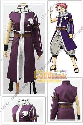 Fairy Tail Natsu Dragneel purple cosplay costume