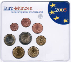 Germany Official Course Set 2005 Adfgj Brilliant Uncirculated