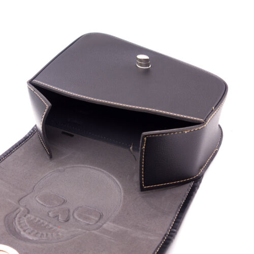 Pair PU Leather Skull Saddlebags Pouch Bag For Harley Sportster XL 883 1200