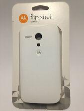 Moto G 1.Gen. Flip Shell weiß | NEU+OVP | Case Cover Schutz Original Motorola