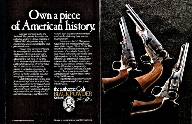 1979 colt black powder revolver ad 1860 army 1862 pocket navy