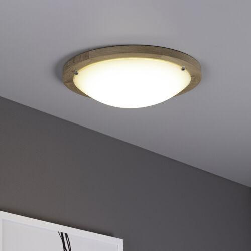 LED Wandleuchte Deckenleuchte Holz Eiche geölt halbrund Eiche 1000 Lumen D96