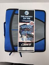Case It Mighty Zip Tab 3 3 Ring Zipper Binder Blue New