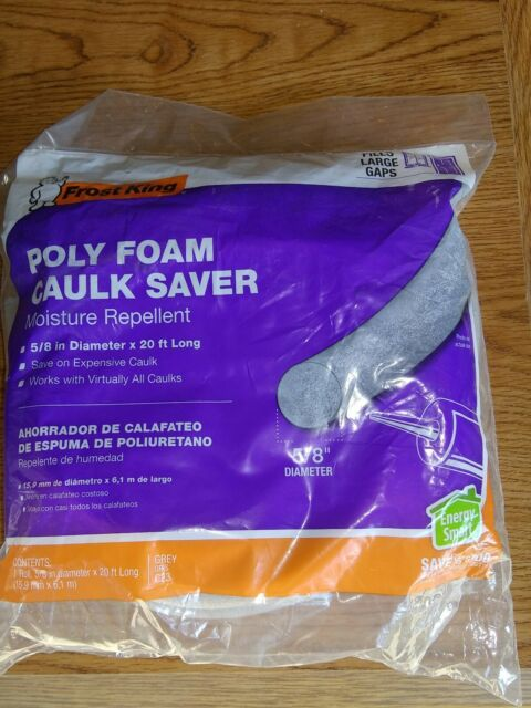 Frost King C23H Caulk Saver 5//8-Inch by 20-Foot Gray