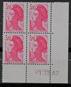 TIMBRE-N-2486-NEUF-XX-LUXE-COIN-DATE-DU-1-12-87-LIBERTE-DE-GANDON