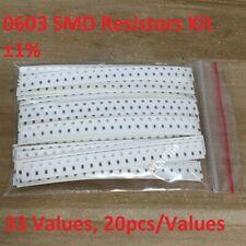 0603 Smd Resistor Element Assortment Kit 1 33 Values 20pcsvalues Total 660pcs