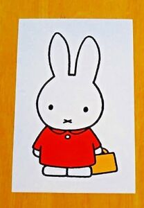039-WITH-LOVE-FROM-MIFFY-039-POSTCARD-MIFFY-GOES-TO-SCHOOL-1975-DESIGN-DICK-BRUNA