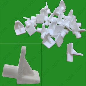 40x-5mm-a-clipser-plastique-blanc-SUPPORT-D-039-etagere-pinces-a-linge-clous