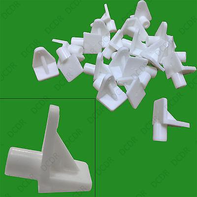 20 pieces x Étagère Supports Plastique Blanc 5 mm Clous Pousser en