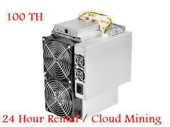 24 HR RENTAL - 100TH BITMAIN ANTMINER S17 S19 Bitcoin/Bitcoin Cash SHA-256 Miner 1