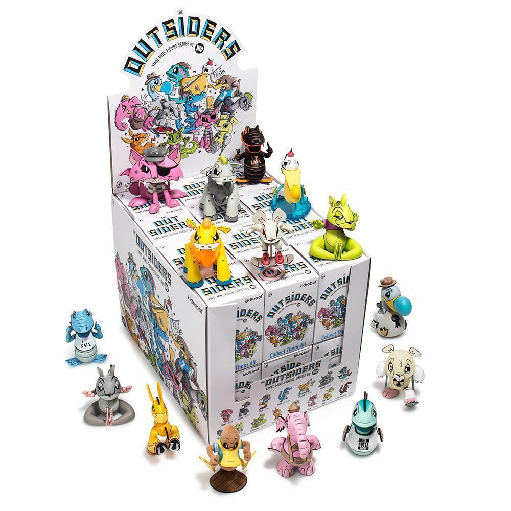 The OutSiders Mini Series by Joe LedBetter x Kidrobot Brand New Sealed Case