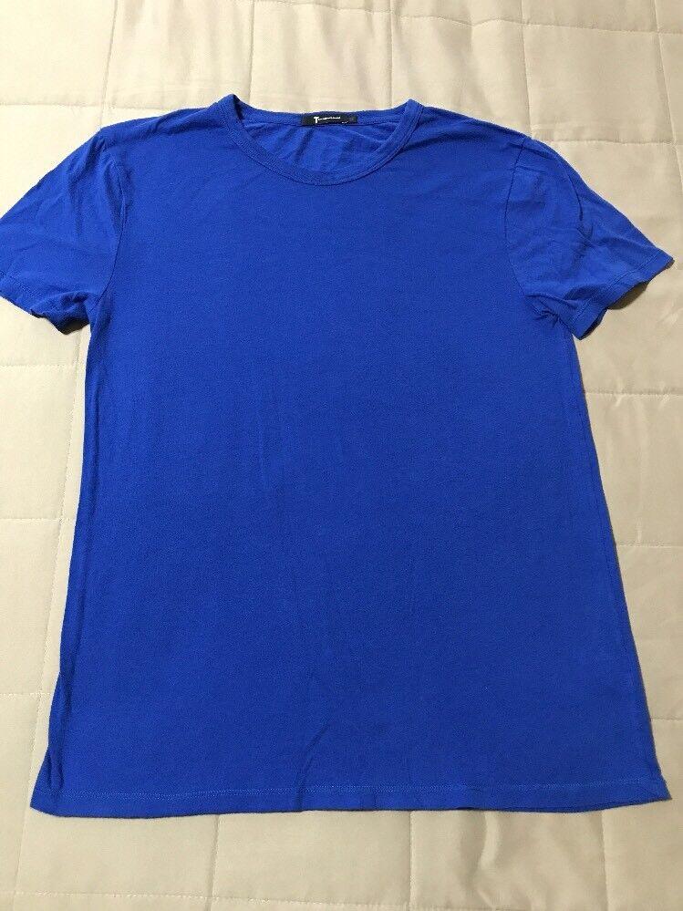 T Alexander Wang Classic Short Sleeve Cotton T-Shirt - bluee - Small