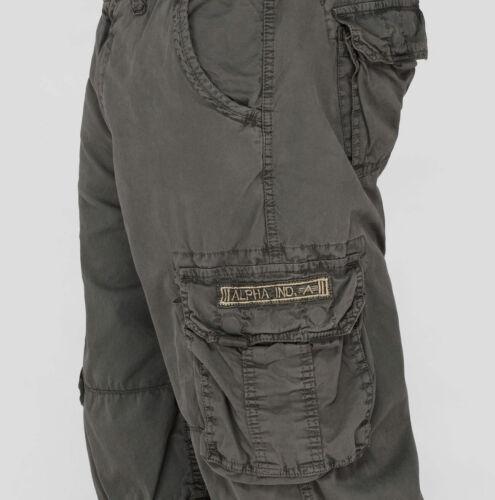 "Herren ALPHA INDUSTRIES kurze Cargo Hose /""Jet Short/""Greyblack 136 191200"