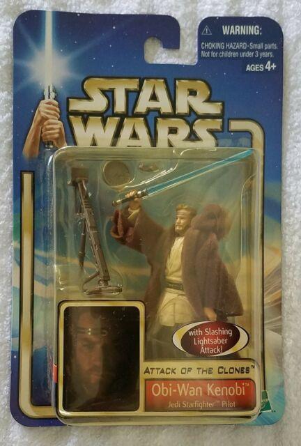 Star Wars Attack of the clones Obi-Wan Kenobi Jedi Starfighter Pilot Figure NOUVEAU!