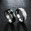 Anello-Uomo-Donna-Acciaio-Inox-Argento-Oro-Fedine-Fedina-Fidanzamento-Fascia miniatura 4