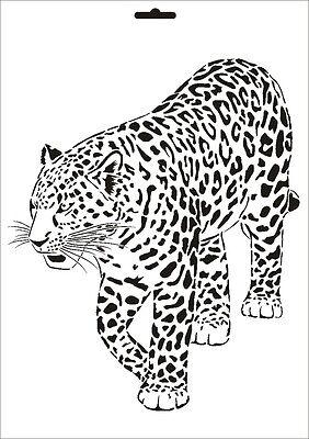Wandschablone Maler T-shirt Schablone W-003 Leopard ~ Umr Design